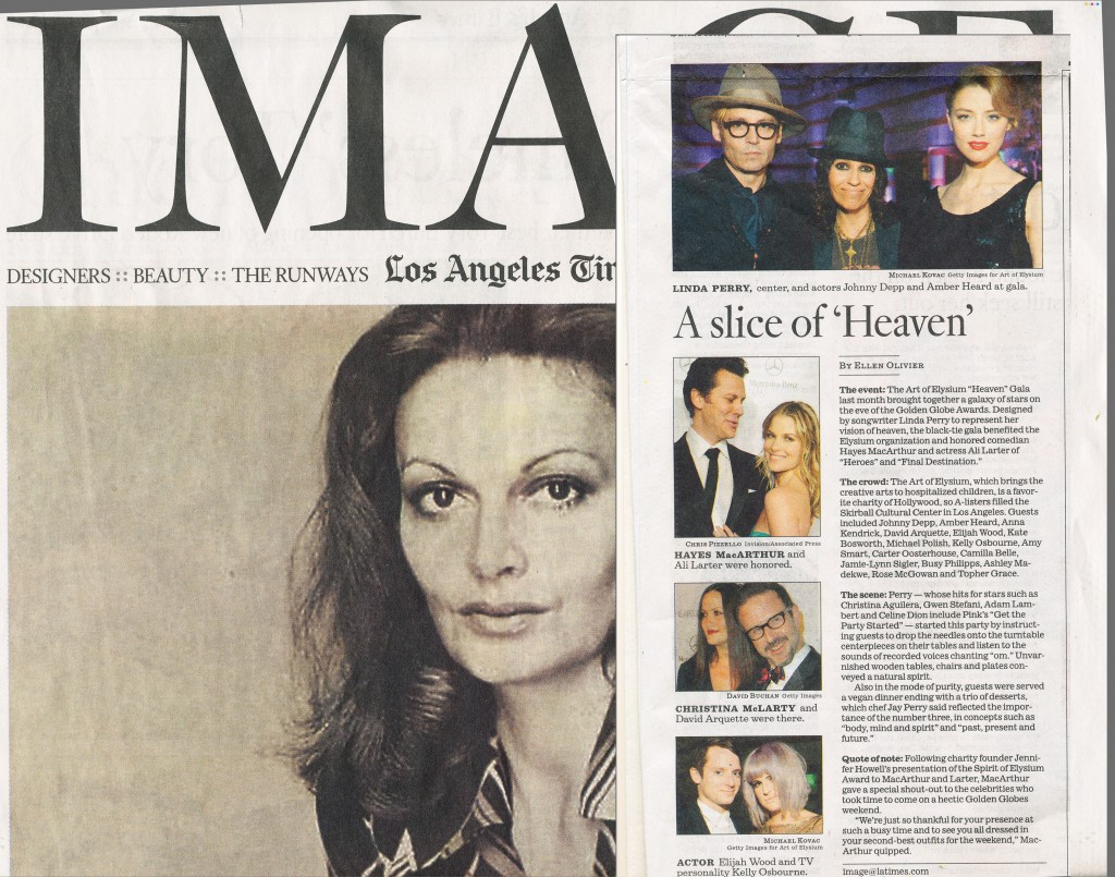 Linda Perry's Event featured in LA Times IMAGE