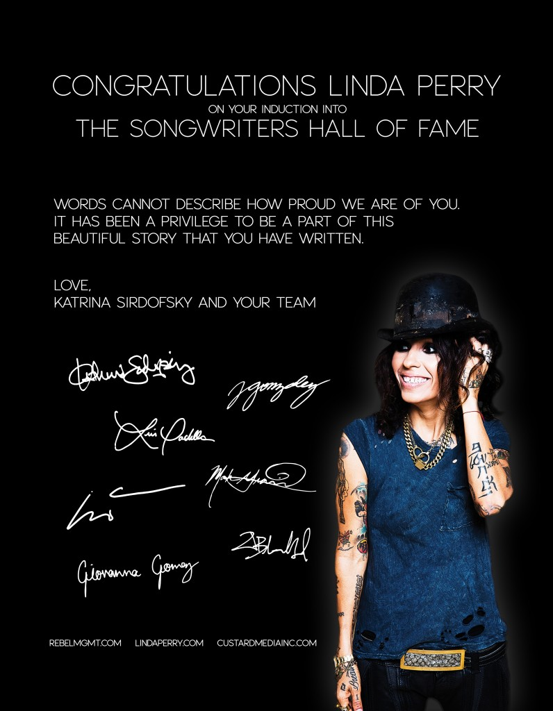 Linda Perry - SWHF- Billboard Ad